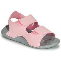 Schoenen Meisjes Sandalen / Open schoenen adidas Performance SWIM SANDAL C Roze
