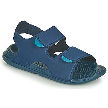 Schoenen Jongens Sandalen / Open schoenen adidas Performance SWIM SANDAL C Blauw