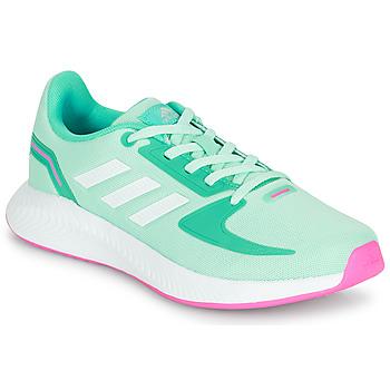 Schoenen Meisjes Lage sneakers adidas Performance RUNFALCON 2.0 K Turquoise / Roze