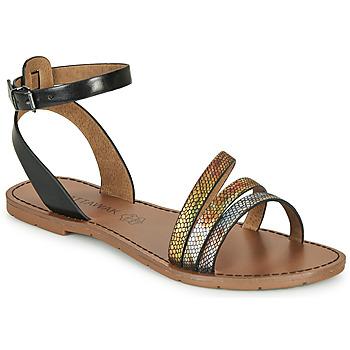 Schoenen Dames Sandalen / Open schoenen Chattawak PAGO Zwart / Multikleuren