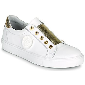 Schoenen Dames Lage sneakers Myma PAGGI Wit / Goud