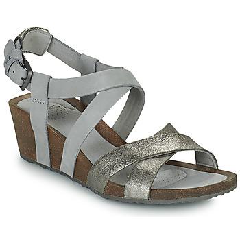Schoenen Dames Sandalen / Open schoenen Teva MAHONIA WEDGE CROSS STRAP ML Grijs / Métal