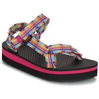 Schoenen Meisjes Sandalen / Open schoenen Teva C MIDFORM FRAY Roze / Multicolour