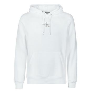 Textiel Heren Sweaters / Sweatshirts Calvin Klein Jeans NEW ICONIC ESSENTIAL HOODIE Wit