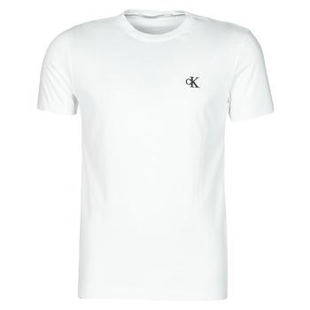 Textiel Heren T-shirts korte mouwen Calvin Klein Jeans YAF Wit