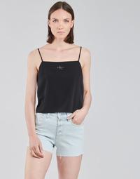 Textiel Dames Tops / Blousjes Calvin Klein Jeans MONOGRAM CAMI TOP Zwart
