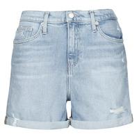 Textiel Dames Korte broeken / Bermuda's Calvin Klein Jeans MOM SHORT Blauw / Clair