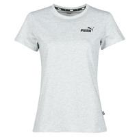 Textiel Dames T-shirts korte mouwen Puma ESS LOGO TEE Grijs / Chiné