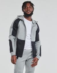 Textiel Heren Sweaters / Sweatshirts Puma EVOSTRIPE FZ HOODY Grijs / Zwart