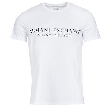 Textiel Heren T-shirts korte mouwen Armani Exchange 8NZT72-Z8H4Z Wit