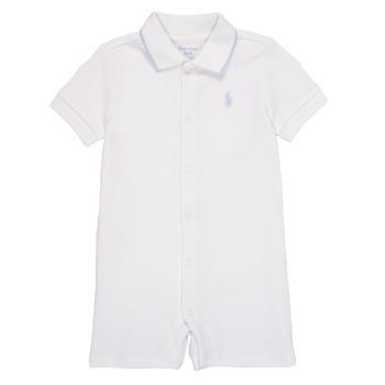 Textiel Jongens Jumpsuites / Tuinbroeken Polo Ralph Lauren TONNY Wit