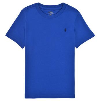 Textiel Jongens T-shirts korte mouwen Polo Ralph Lauren ELIVA Blauw / Saffier