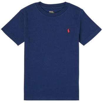 Textiel Jongens T-shirts korte mouwen Polo Ralph Lauren TINNA Marine