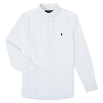 Textiel Jongens Overhemden lange mouwen Polo Ralph Lauren TOUNIA Wit
