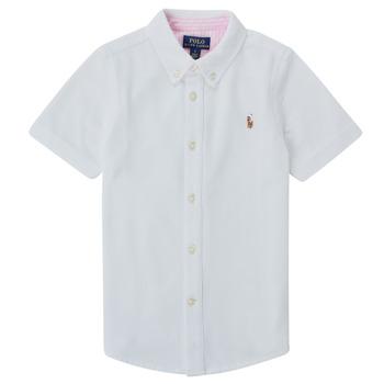 Textiel Jongens Overhemden korte mouwen Polo Ralph Lauren CAMISSA Wit
