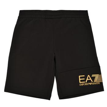 Textiel Jongens Korte broeken / Bermuda's Emporio Armani EA7 3KBS53-BJ05Z-1200 Zwart / Goud