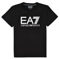 Textiel Jongens T-shirts korte mouwen Emporio Armani EA7 3KBT53-BJ02Z-1200 Zwart