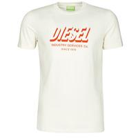 Textiel Heren T-shirts korte mouwen Diesel A01849-0GRAM-129 Wit