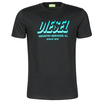 Textiel Heren T-shirts korte mouwen Diesel A01849-0GRAM-9XX Zwart