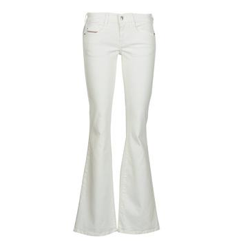 Textiel Dames Bootcut jeans Diesel D-EBBEY Wit / Cassé