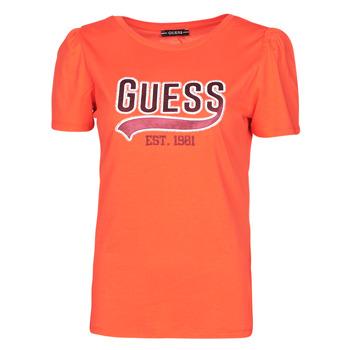 Textiel Dames T-shirts korte mouwen Guess SS CN MARISOL TEE Rood
