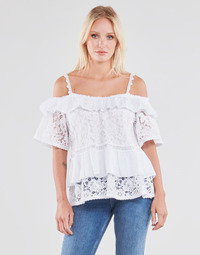 Textiel Dames Tops / Blousjes Guess SS NEW OLIMPIA TOP Wit