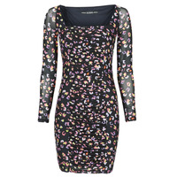 Textiel Dames Korte jurken Guess GAYLE DRESS Zwart / Leo