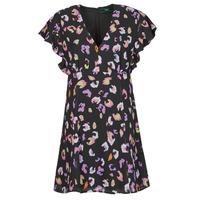 Textiel Dames Korte jurken Guess AYAR DRESS Zwart / Multicolour