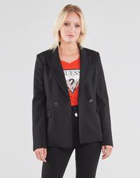 Textiel Dames Jasjes / Blazers Guess MICAELA BLAZER Zwart
