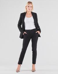 Textiel Dames 5 zakken broeken Guess ZOE PANTS Zwart