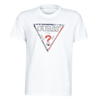 Textiel Heren T-shirts korte mouwen Guess TRIESLEY CN SS TEE Wit