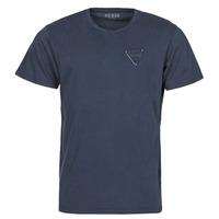Textiel Heren T-shirts korte mouwen Guess LOGO ORGANIC BASIC CN SS TEE Marine