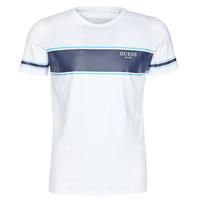 Textiel Heren T-shirts korte mouwen Guess CN SS TEE Wit / Marine
