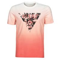 Textiel Heren T-shirts korte mouwen Guess PALM BEACH CN SS TEE Rood