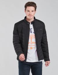 Textiel Heren Dons gevoerde jassen Guess STRETCH MIXED BIKER Zwart
