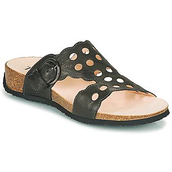 Schoenen Dames Leren slippers Think MIZZI Zwart