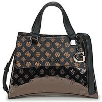 Tassen Dames Handtassen kort hengsel Guess DALMA GIRLFRIENF SATCHEL Brown / Zwart