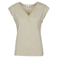 Textiel Dames T-shirts korte mouwen Morgan DMAYA Beige