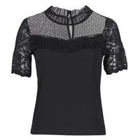 Textiel Dames T-shirts korte mouwen Morgan DANY Zwart