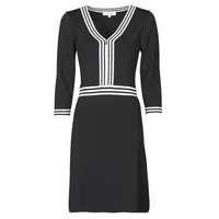 Textiel Dames Korte jurken Morgan RMFATA Zwart / Wit