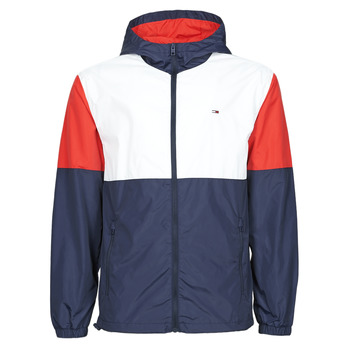 Textiel Heren Windjacken Tommy Jeans TJM NYLON COLORBLOCK WINDBREAKER Wit / Rood / Marine
