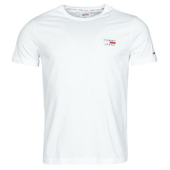 Textiel Heren T-shirts korte mouwen Tommy Jeans TJM CHEST LOGO TEE Wit
