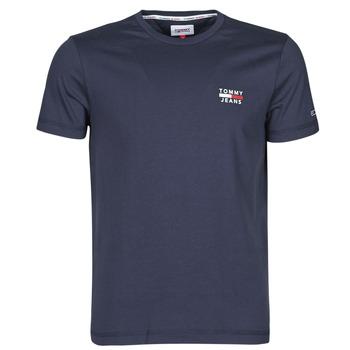 Textiel Heren T-shirts korte mouwen Tommy Jeans TJM CHEST LOGO TEE Marine