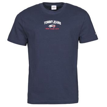 Textiel Heren T-shirts korte mouwen Tommy Jeans TJM TIMELESS TOMMY SCRIPT TEE Marine