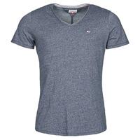 Textiel Heren T-shirts korte mouwen Tommy Jeans TJM SLIM JASPE V NECK Marine