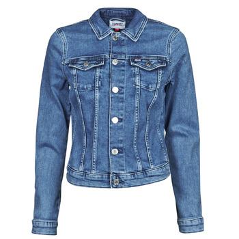 Textiel Dames Spijker jassen Tommy Jeans VIVIANNE SLIM DENIM TRUCKER NMBS Blauw / Medium