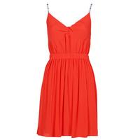 Textiel Dames Korte jurken Tommy Jeans TJW ESSENTIAL STRAP DRESS Rood