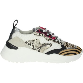 Schoenen Dames Lage sneakers Meline 7071 White/Fuchsia