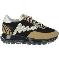 Schoenen Dames Lage sneakers Meline 1700 Black/Brown Taupe