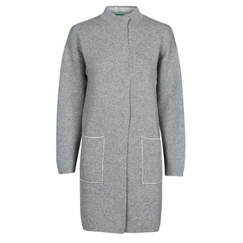 Textiel Dames Mantel jassen Benetton 1132E9071-507 Grijs
